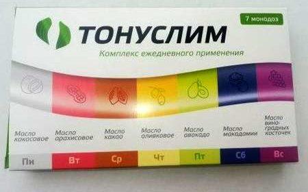 Упаковка монодозы Тонуслим с лицевой стороны.